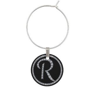 R Bling Monogrammwein-Charme Glasmarker