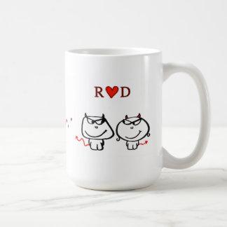"""""""R-Herz D (nur eine Initiale) """" Kaffeetassen"""