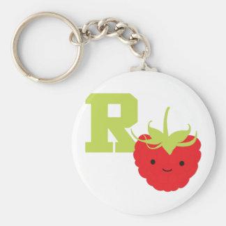 R ist für Himbeere Schlüsselanhänger