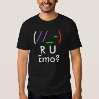 (, //, _-,), R, U, Emo ? T Shirt