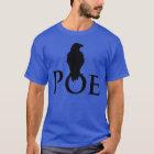 Rabe auf dem Schriftzug POE T-Shirt