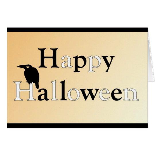 Rabe glückliches Halloween•Geburtstag Grußkarte
