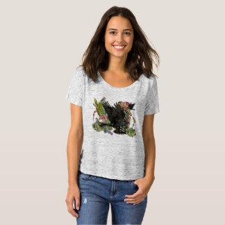 Raben-Geist-tierischer Slouchy T - Shirt