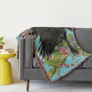 Raben-Geist-TierWurfs-Decke Decke