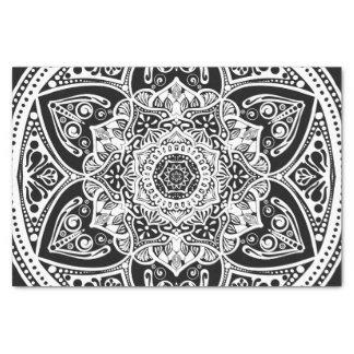 Raben-Mandala Seidenpapier