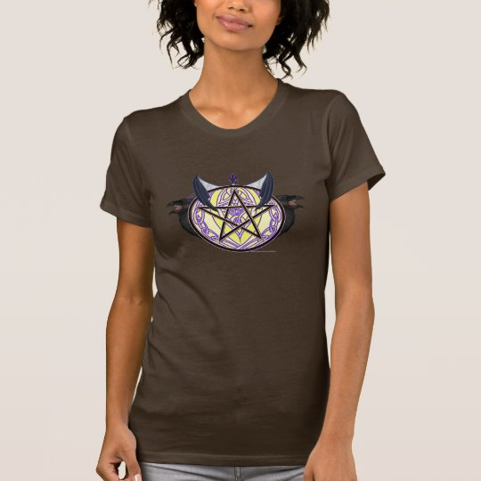 Raben-Pentagramm-Damen-Nano-T - Shirt