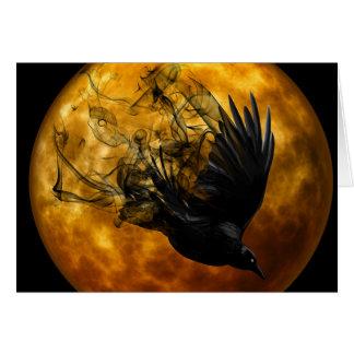 Raben-Vollmond-heidnische Gruß-Karte Grußkarte
