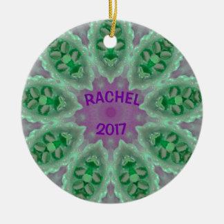 RACHEL ~ personalisiertes leuchtendes Keramik Ornament