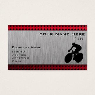 Radfahren; Gebürsteter Metallblick Visitenkarte