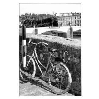 Radfahren in die italienische Stadt von Florenz Memoboard