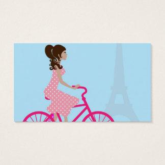 Radfahren in Paris Visitenkarte