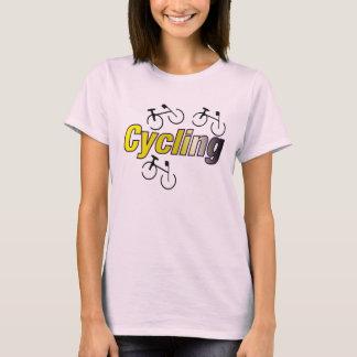 Radfahren mit Fahrrad T-Shirt