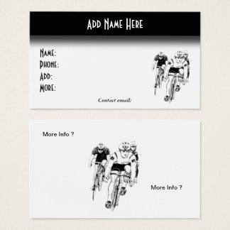 Radfahren - Seiten-Visitenkarte des Fahrrad-2 Visitenkarte