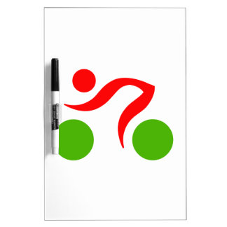 Radfahrendes cooles Logo Trockenlöschtafel