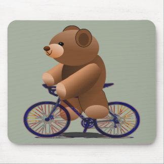 RadfahrenTeddybär-Druck Mousepads
