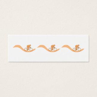 Radfahrer-Entwurf in der Orange Mini Visitenkarte