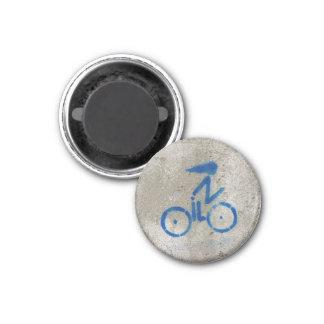 Radfahrer-Graffiti-Karte Runder Magnet 2,5 Cm