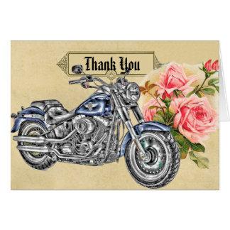Radfahrer-Hochzeit danken Ihnen zu kardieren Karte