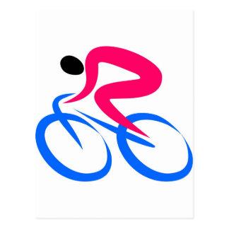 Radfahrer-Ikone Postkarte