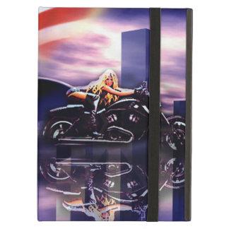Radfahrer-Mädchen auf Harley Davidson-Motorrad