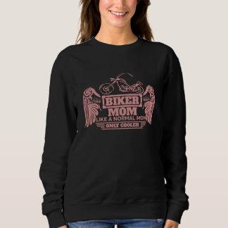 Radfahrer-Mamma-Motorrad-Rosa-Druck Sweatshirt