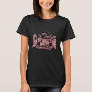 Radfahrer-Mamma-Motorrad-Rosa-Druck T-Shirt