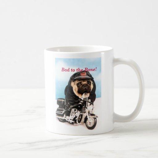 Radfahrer-Mops-HundeTasse Kaffee Tassen