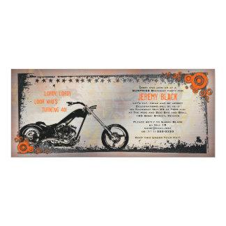 Radfahrer-oder Motorrad-Geburtstags-Einladung