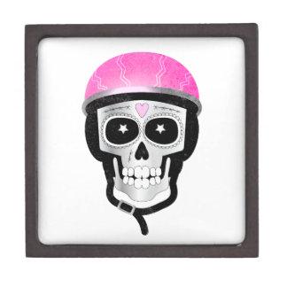 Radfahrer-oder Radfahrer-Zuckerschädel Schachtel