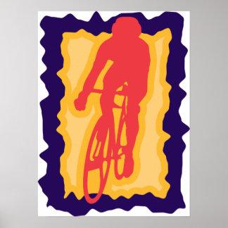 Radfahrer-Plakat Poster