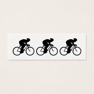 Radfahrer-Schattenbild Mini Visitenkarte