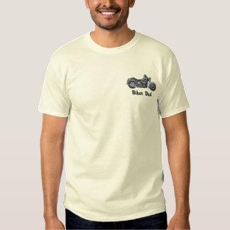 Radfahrer-Vati Besticktes T-Shirt