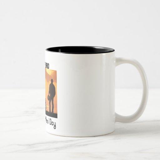 Radfahrer-Vati, der glückliche Vatertag Teetasse