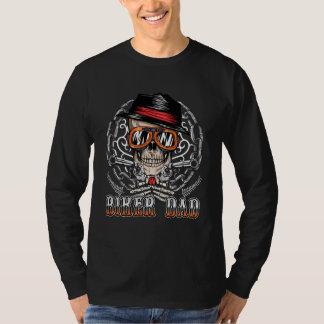 Radfahrer-Vati-Schädel-Kette T-Shirt