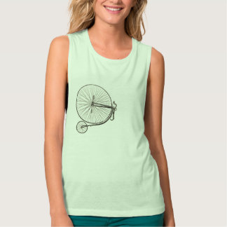 Radfahrer-Vintager Fahrrad-T - Shirt