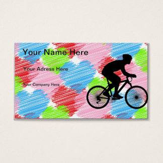 Radfahrer Visitenkarte