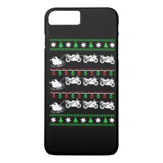 Radfahrer-Weihnachten iPhone 8 Plus/7 Plus Hülle