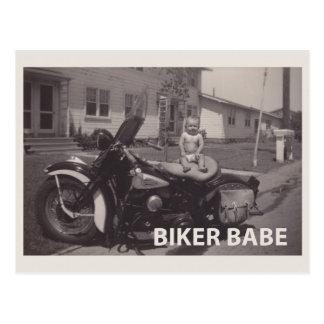 Radfahrerbaby Postkarte