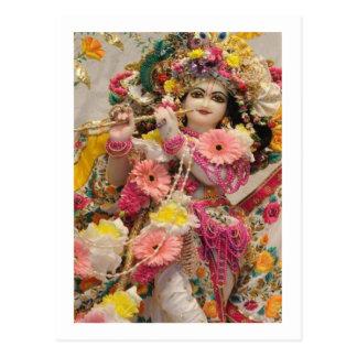Radha KRISHNA für Liebe, Wohlstand des Friedensn Postkarte