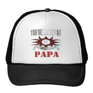 Radikaler grauer Papa Netzkappen