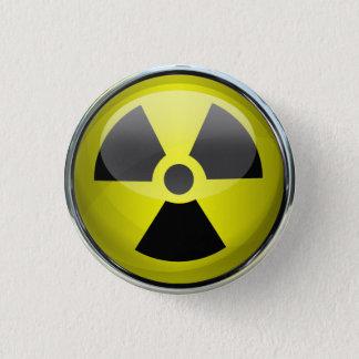 Radioaktiv Runder Button 3,2 Cm