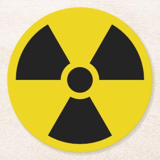 Radioaktiv Runder Pappuntersetzer