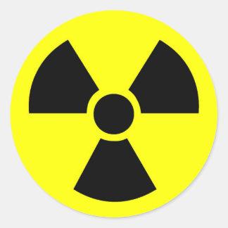 Radioaktive runde Aufkleber