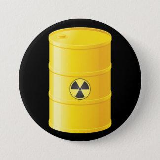 Radioaktiver Abfall-Knopf Runder Button 7,6 Cm
