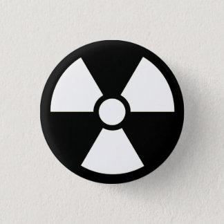 Radioaktiver Knopf des Symbol-B&W Runder Button 2,5 Cm