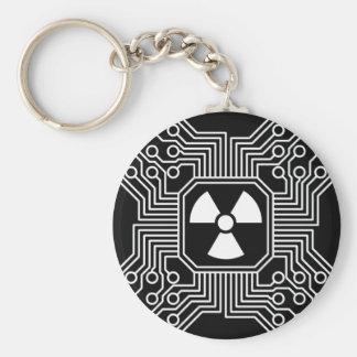 Radioaktiver Stromkreis Keychain Schlüsselanhänger