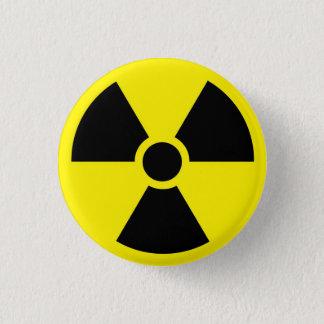 Radioaktiver Symbol-Knopf Runder Button 2,5 Cm
