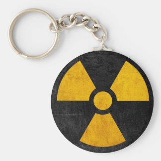 Radioaktives nukleares Reaktor-Gelb und Schwarzes Schlüsselanhänger