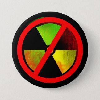 Radioaktives Schmutz NO-Kernwaffen Symbol Runder Button 7,6 Cm