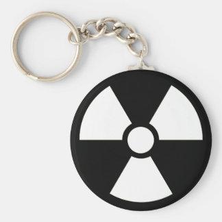 Radioaktives Symbol B&W Keychain Schlüsselanhänger